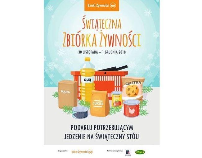 Ilustracja do informacji: Świąteczna Zbiórka Żywności