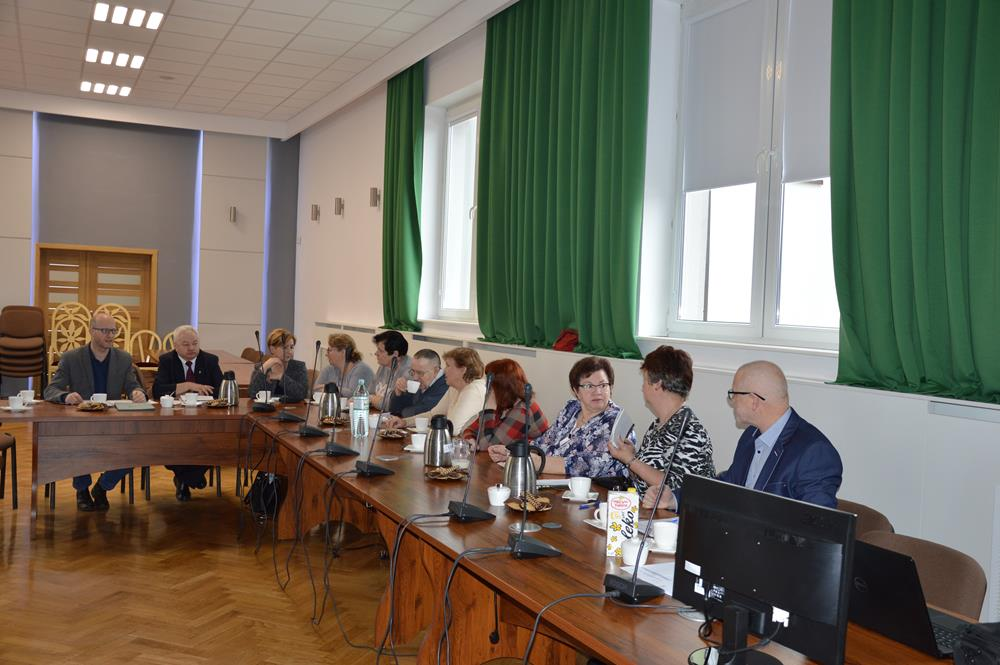 Ilustracja do informacji: I posiedzenie drugiej kadencji Rady Seniorów Gminy Lubawa