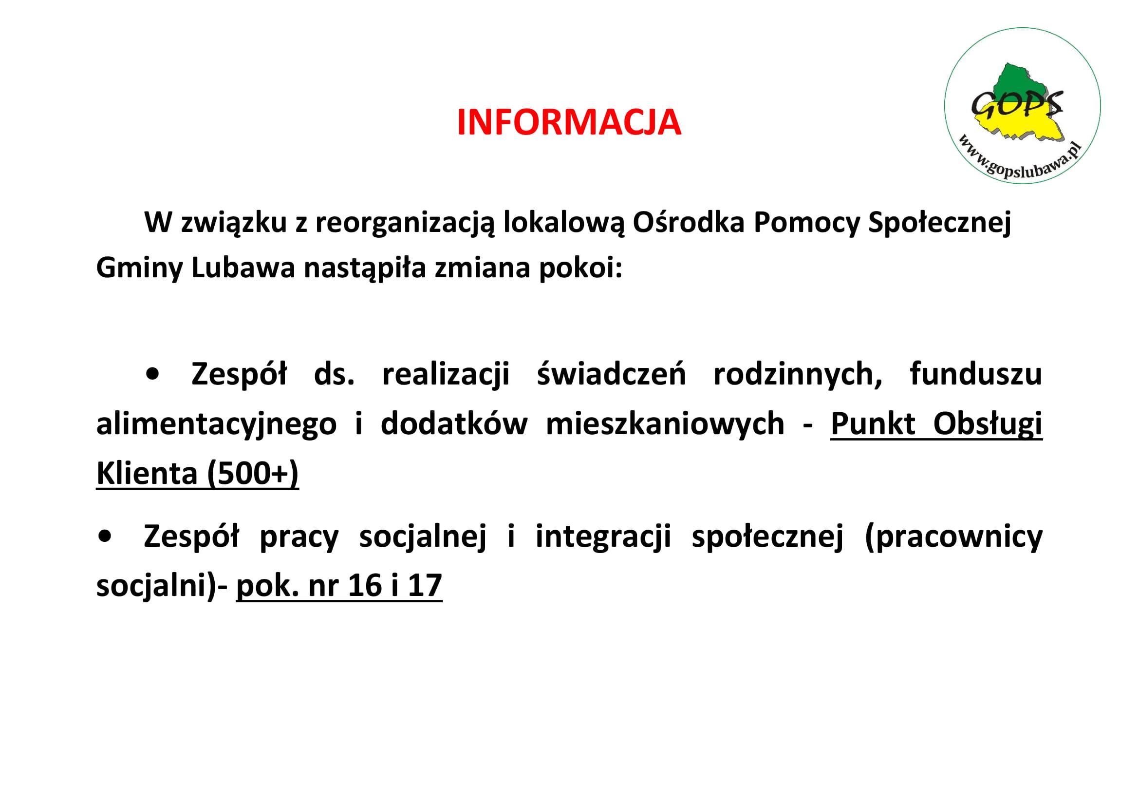 Ilustracja do informacji: Informacja