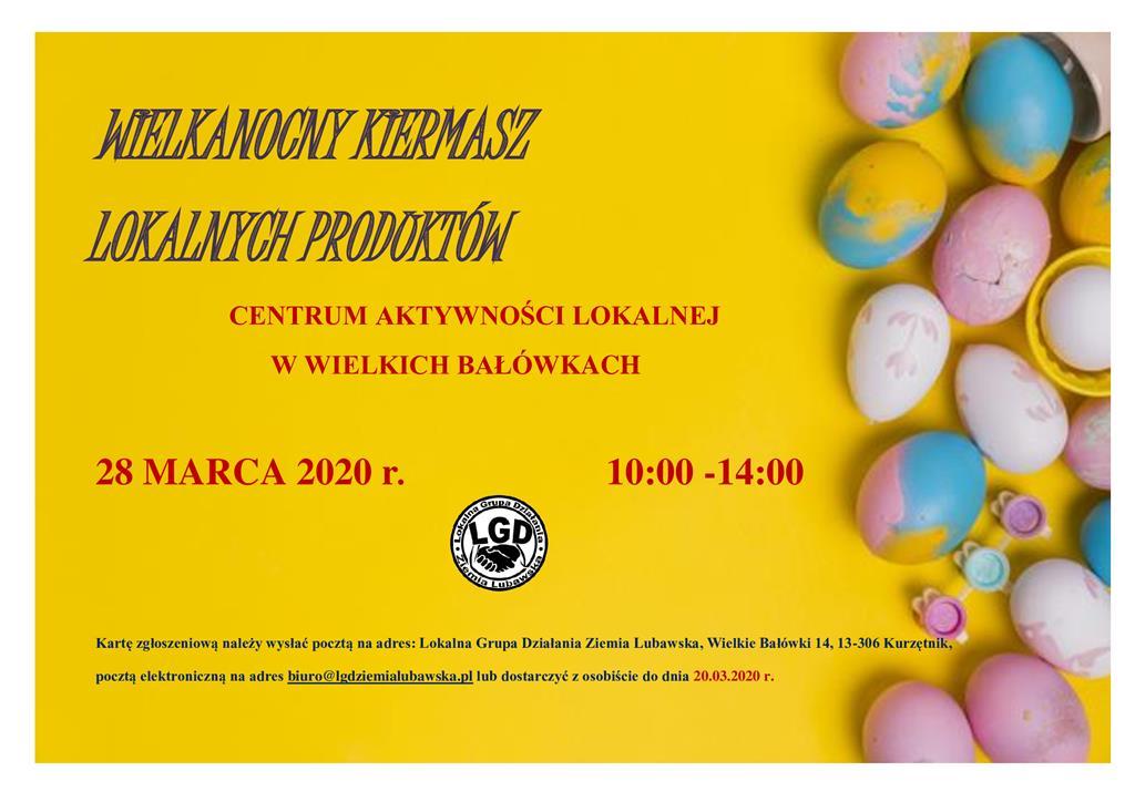Ilustracja do informacji: Wielkanocny Kiermasz Produktów Lokalnych