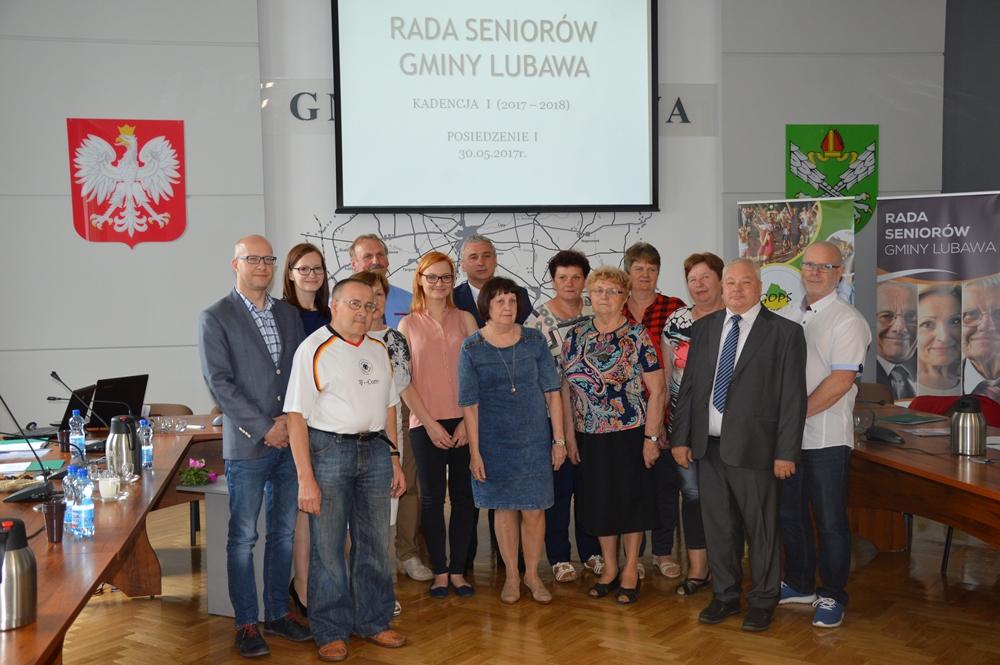 Ilustracja do informacji: I posiedzenie Rady Seniorów Gminy Lubawa